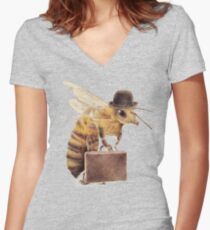 Worker Bee Women's Fitted V-Neck T-Shirt
