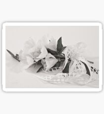 Ribboned White Godetia Flowers Sticker