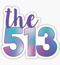 The 513 Area Code Sticker
