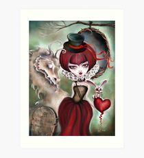 Dragon Lady - Graveyard Grenda & Dragon Art Print