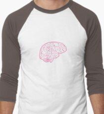 Human brain illustration. Cognitive science Men's Baseball ¾ T-Shirt