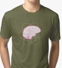 Human brain illustration. Cognitive science Tri-blend T-Shirt