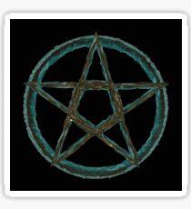 Cool Blue Pentagram Sticker