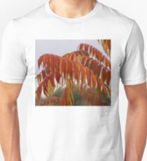 The Fiery Colors of the Autumn Sumac Unisex T-Shirt