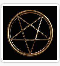 Smooth Gold Pentagram Sticker