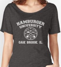Hamburger University in White Women's Relaxed Fit T-Shirt