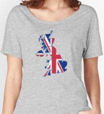Flag Map of the United Kingdom  Women's Relaxed Fit T-Shirt