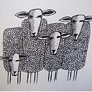 Whimsical Sheep (drawing) by TraceyMackieArt