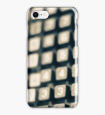 adding machine keypad iPhone Case/Skin