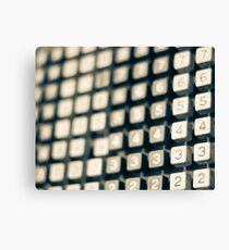 adding machine keypad Canvas Print
