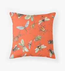 Creapy crawlies: Request from mom; RED Throw Pillow