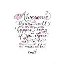 Funny miserable cow handwritten quote by Melissa Goza