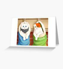 USUK Nekotalia Christmas Stockings Greeting Card
