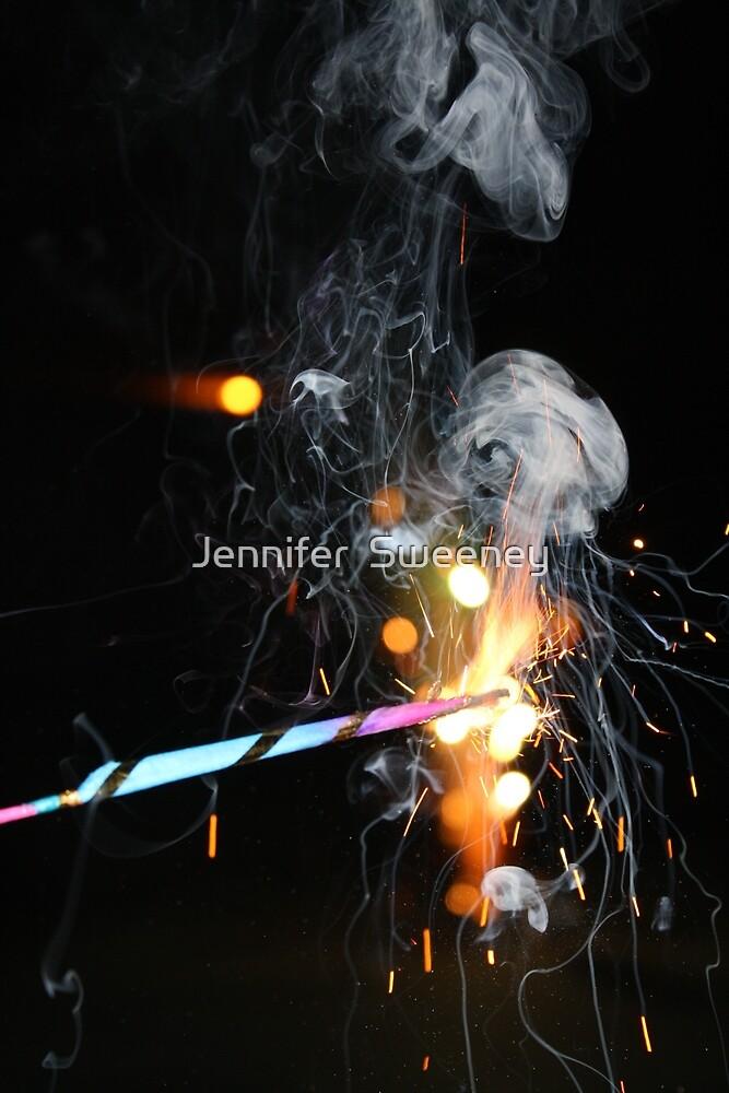 Ribbon Sparkler by Jennifer  Cortez