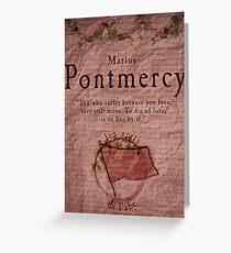 Marius Pontmercy Greeting Card