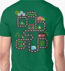 Dad's Bud Road Map Playtime Design T-Shirt
