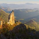 Bread Knife Dawn, Warrumbungles, New South Wales, Australia by Michael Boniwell