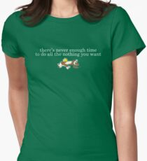 Lazy Calvin Womens Fitted T-Shirt
