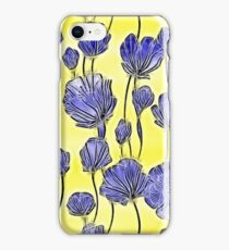 Energetic Flower Pattern, yellow and blue iPhone Case/Skin