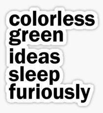 Colorless Green Ideas Sleep Furiously | White | Linguistics Sticker
