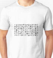 Egyptian hieroglyphs Unisex T-Shirt