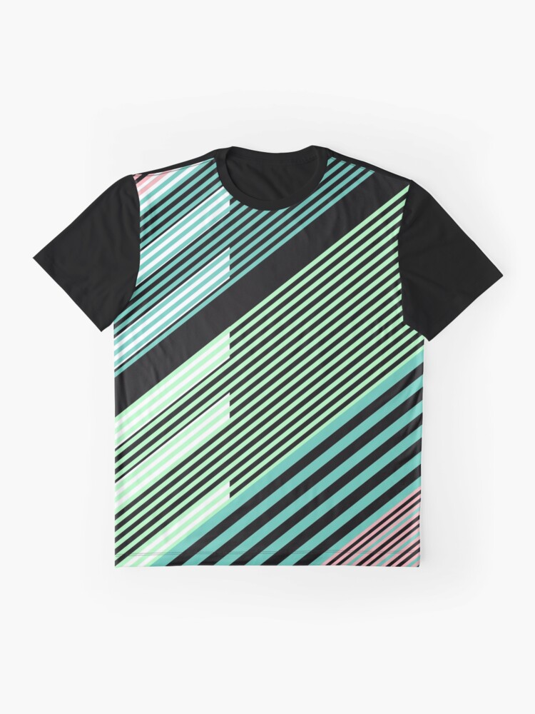 Alternate view of Abstract Striped Island Graphic T-Shirt