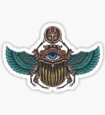 Bunter Scarabäuskäfer mit dem Auge von Horus Sticker
