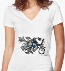 The BlackDot   from Le Bleu Series Women's Fitted V-Neck T-Shirt