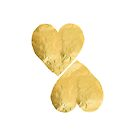 two hearts - gold by beverlylefevre