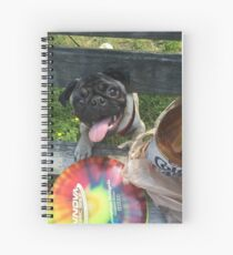 Pug disc golf Spiral Notebook