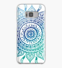 Blue Gradient Mandala  Samsung Galaxy Case/Skin