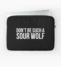 Sour Wolf - white text Laptop Sleeve