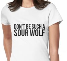 Sour Wolf - black text Womens Fitted T-Shirt