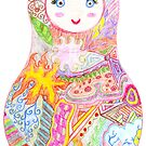Matryoshka Zentangle by Sarah Elaine Ramirez