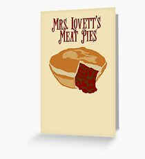 Mrs. Lovett's Meat Pies Greeting Card