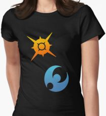 Pokemon Sun and Moon Symbols Women's Fitted T-Shirt