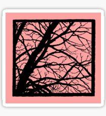 Bold Pink Tree Sticker