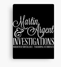 Martin & Argent Investigations Canvas Print