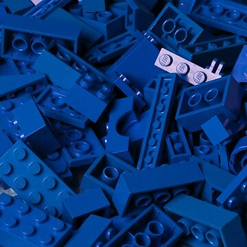 Blue Lego Bricks by iacon