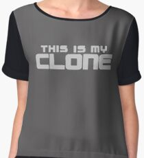 This Is My Clone logo Chiffon Top