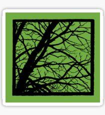 Earth Lime GreenTree Sticker