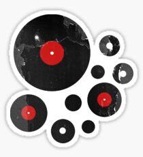 Vintage Vinyl Records Music DJ inspired design Sticker
