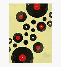 Vintage Vinyl Records Music DJ inspired design Photographic Print