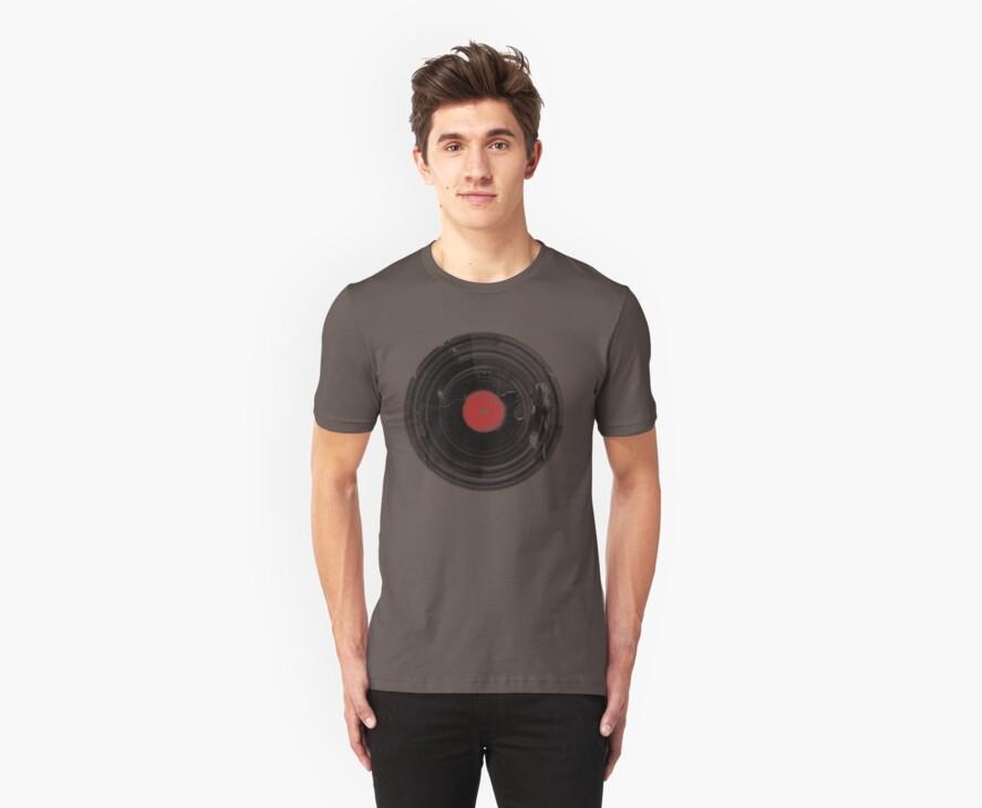 Vinyl Record Vintage Grunge Retro by Denis Marsili