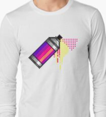 Spray paint - Pink Long Sleeve T-Shirt