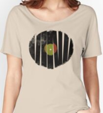 Cool Broken Vinyl Record Grunge Vintage Women's Relaxed Fit T-Shirt