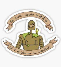 The earth speaks Sticker