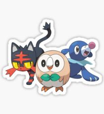 Pokemon Alola Starters Rowlet Littin Popplio Sticker