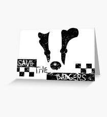 Save the Badgers Greeting Card