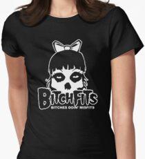 Bitchfits Skull Bitches Doin Misfits Womens Fitted T-Shirt